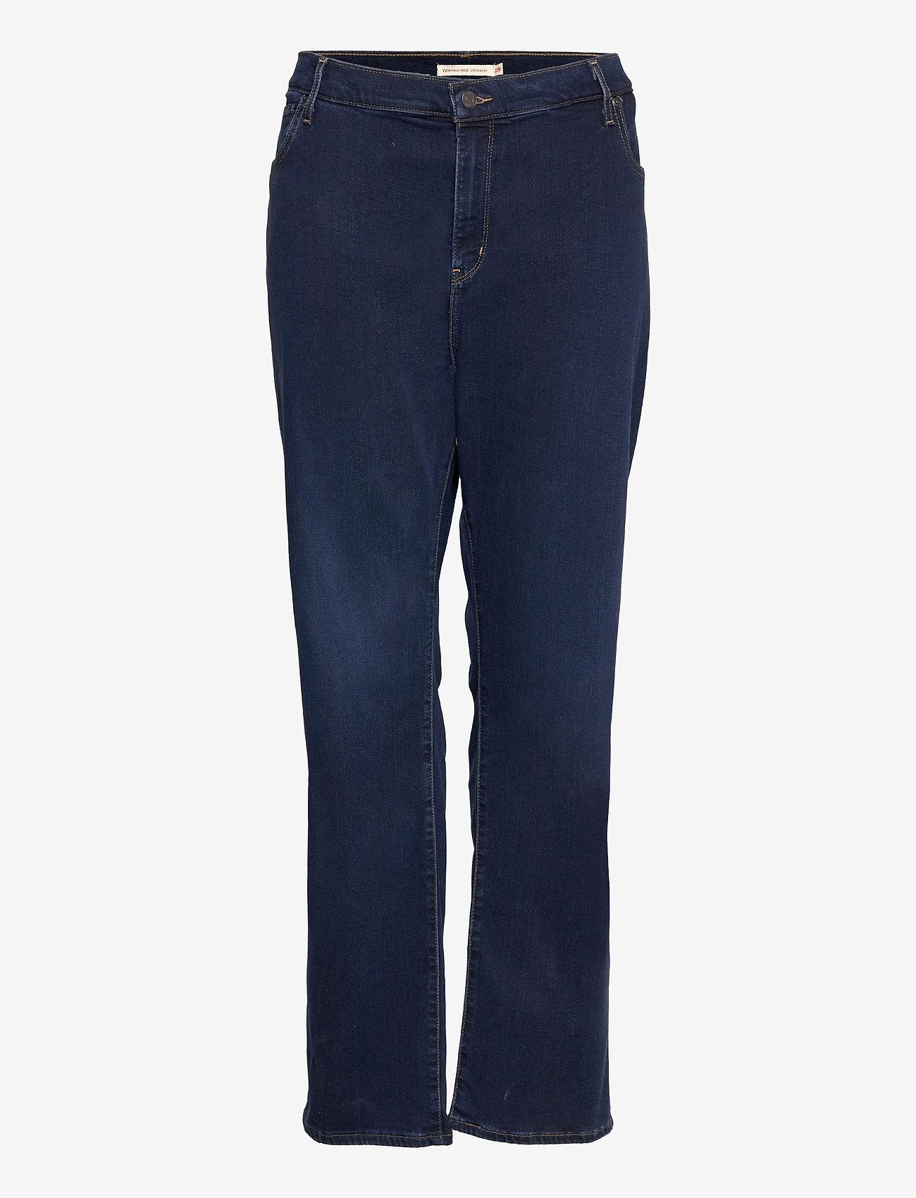 Levi's Plus Size - 724 PL HR STRAIGHT BOGOTA SASS - straight jeans - dark indigo - worn in - 0