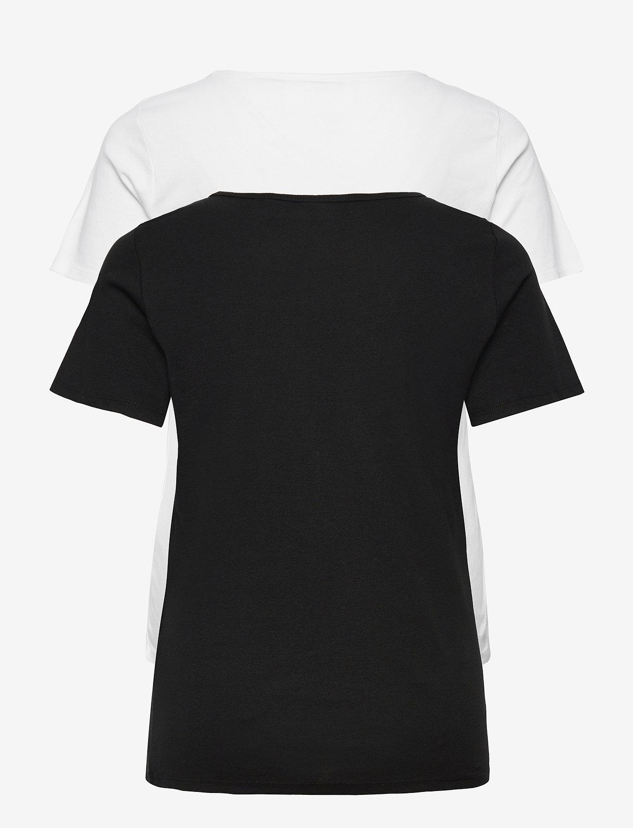 Levi's Plus Size - PL 2 PACK TEE PL 2 PACK TEE WH - t-shirts - neutrals - 1