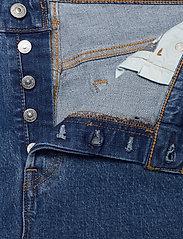 Levi's Plus Size - PL 501 CROP JIVE STONEWASH - straight jeans - med indigo - flat finish - 3