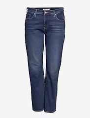 Levi's Plus Size - 314 PL SHAPING STRAIGHT PARIS - straight jeans - med indigo - worn in - 0