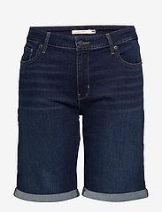 Levi's Plus Size - PL CLASSIC BERMUDA SHORT DARK - bermudas - dark indigo - worn in - 0
