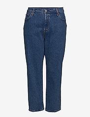 Levi's Plus Size - PL 501 CROP JIVE STONEWASH - straight jeans - med indigo - flat finish - 0