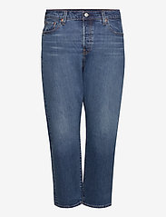 Levi's Plus Size - PL 501 CROP CHARLESTON OUTLAST - boyfriend jeans - dark indigo - worn in - 0
