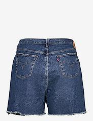Levi's Plus Size - PL 501 ORIGINAL SHORT SALSA CH - korte jeansbroeken - med indigo - worn in - 1