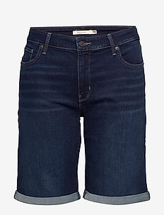 PL CLASSIC BERMUDA SHORT DARK - bermuda-shortsit - dark indigo - worn in