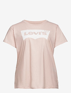PL PERFECT TEE PL BW PEACH BLU - logo t-shirts - reds