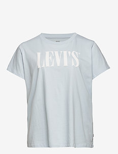 PL PERFECT TEE PL 90S SERIF T2 - logo t-shirts - blues