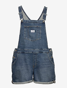 PL SHORTALL FREE RIDE PLUS - jumpsuits - med indigo - worn in