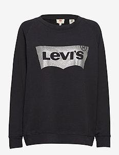 PL RELAXED GRAPHIC CREW PLUS H - sweatshirts - blacks