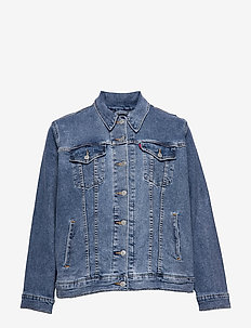 PL EXBOYFRIEND TRUCKER SOFT AS - jeansjacken - light indigo - worn in