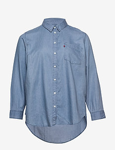 PL ULTIMATE BOYFRIEND LIGHT MI - denim shirts - blues