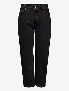 PL 501 CROP CABO FADE - mom jeans - blacks