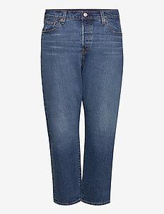 PL 501 CROP CHARLESTON OUTLAST - dżinsy chłopaka - dark indigo - worn in