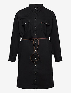 PLUS WESTERN DRESS BLACK BOOK - skjortklänningar - blacks