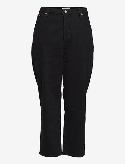 PL RIBCAGE STRAIGHT ANK BLACK - straight jeans - blacks