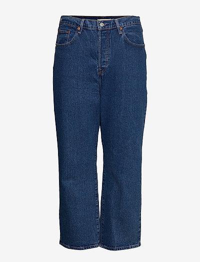 PL RIBCAGE STRAIGHT ANK JAZZ G - straight jeans - med indigo - flat finish