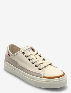 SQUARE LOW S - lave sneakers - ecru