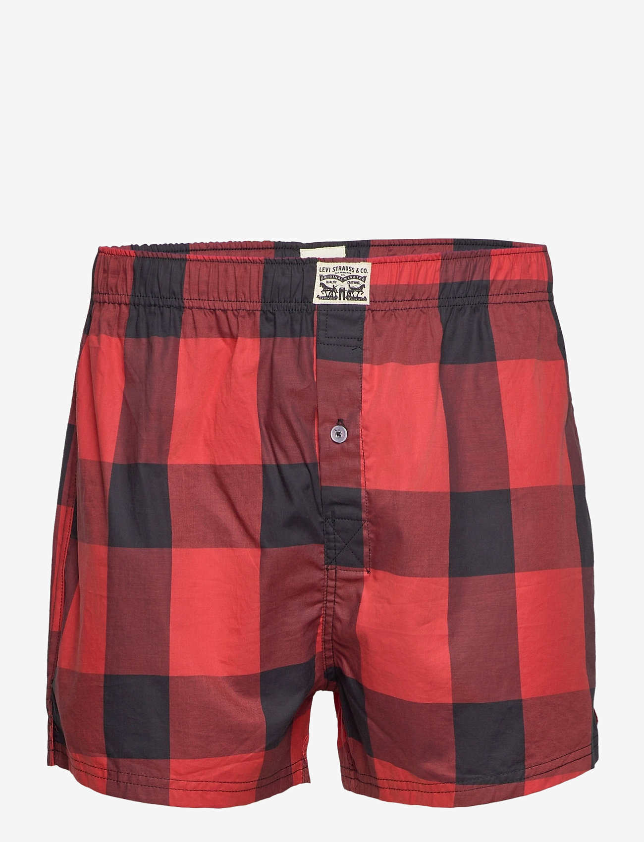 Levi´s LEVIS MEN PREMIUM BUFFALO CHECK WOV - Shorts RED - Menn Klær