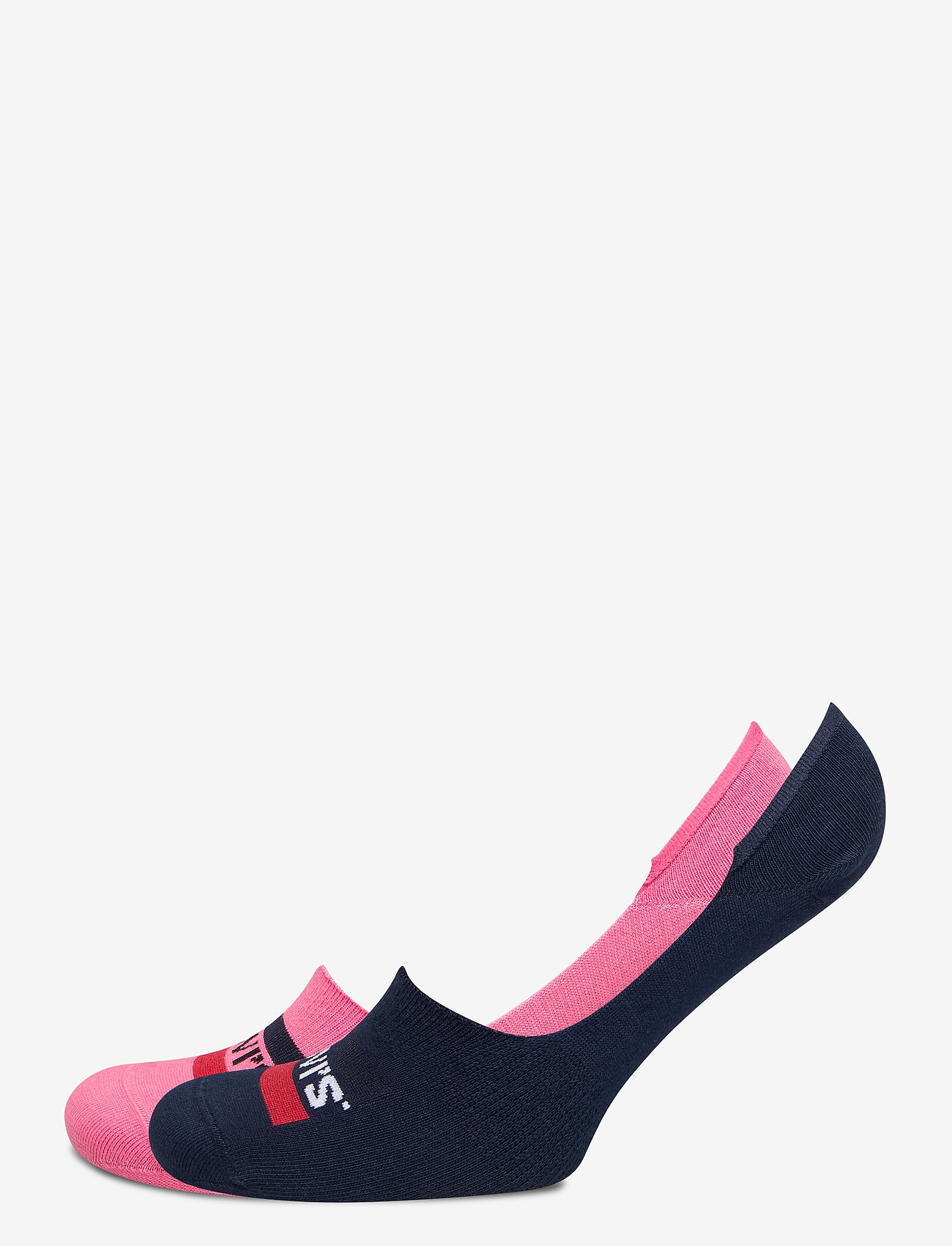 Levi´s - LEVIS LOW RISE SPORTWR LOGO 2P - korte strømper - pink combo - 0