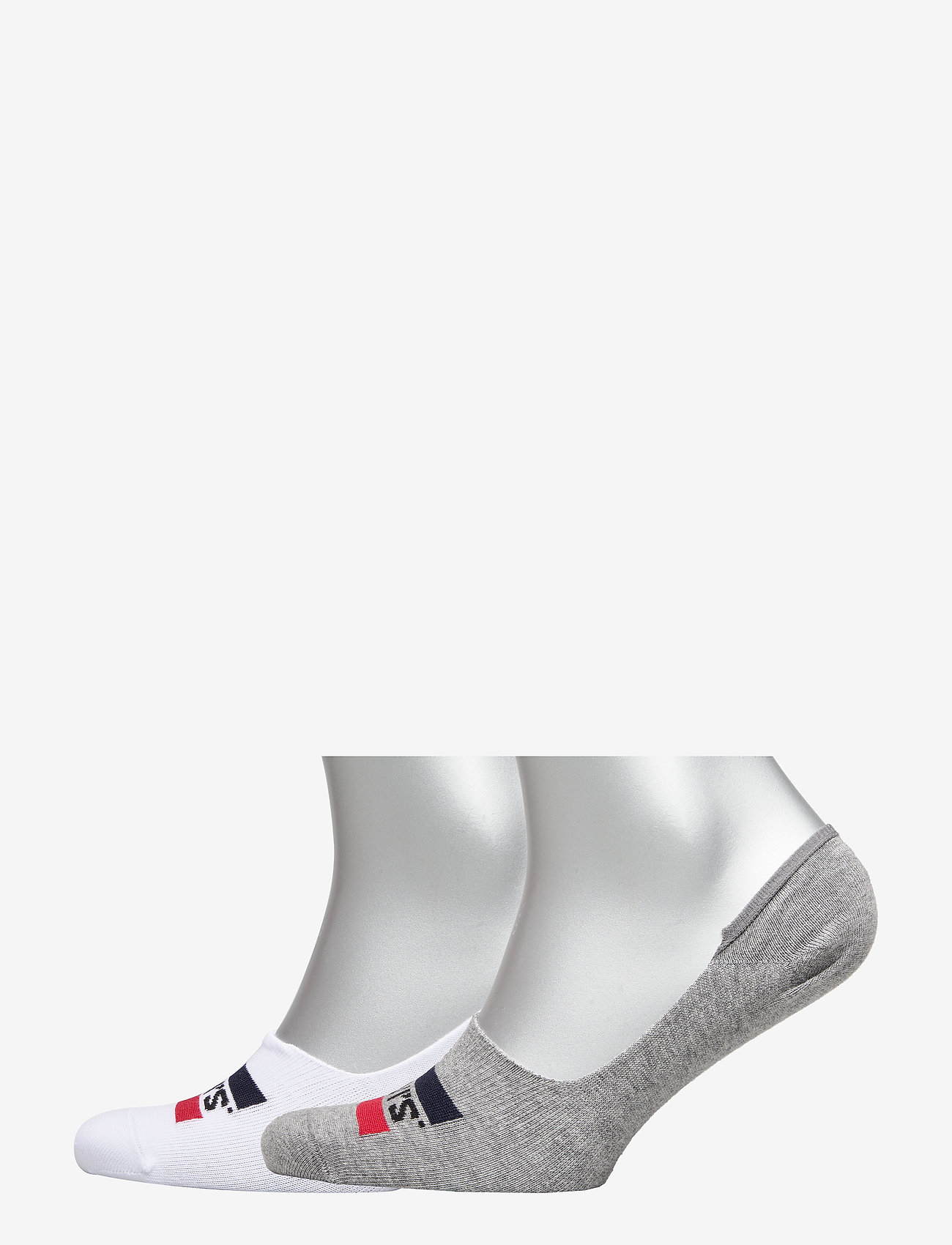 Levi´s - LEVIS LOW RISE SPORTWR LOGO 2P - ankle socks - white / grey - 0