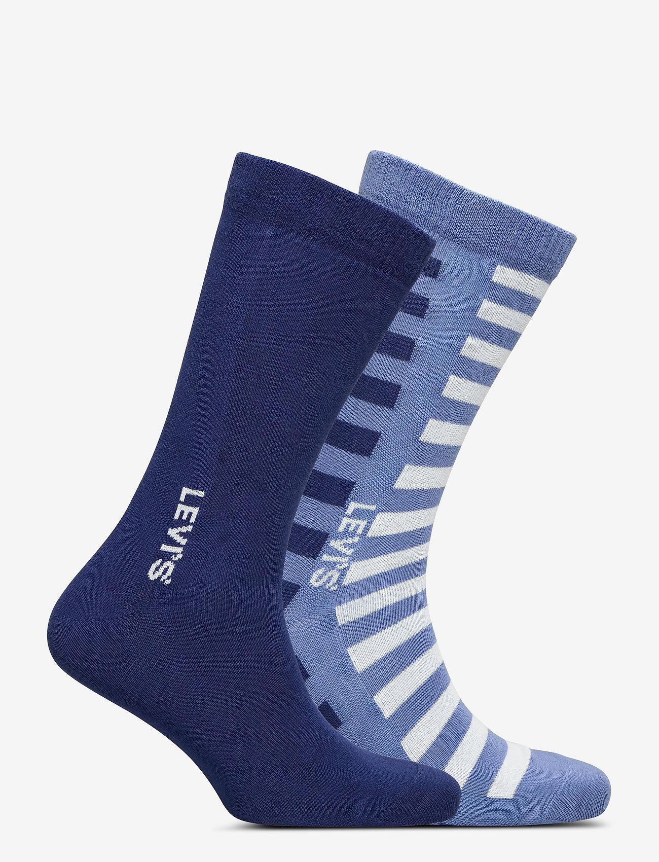 Levi´s LEVIS MEN REGULAR CUT SPLICED STRIP - Sokker RIVERSIDE BLUE - Menn Klær