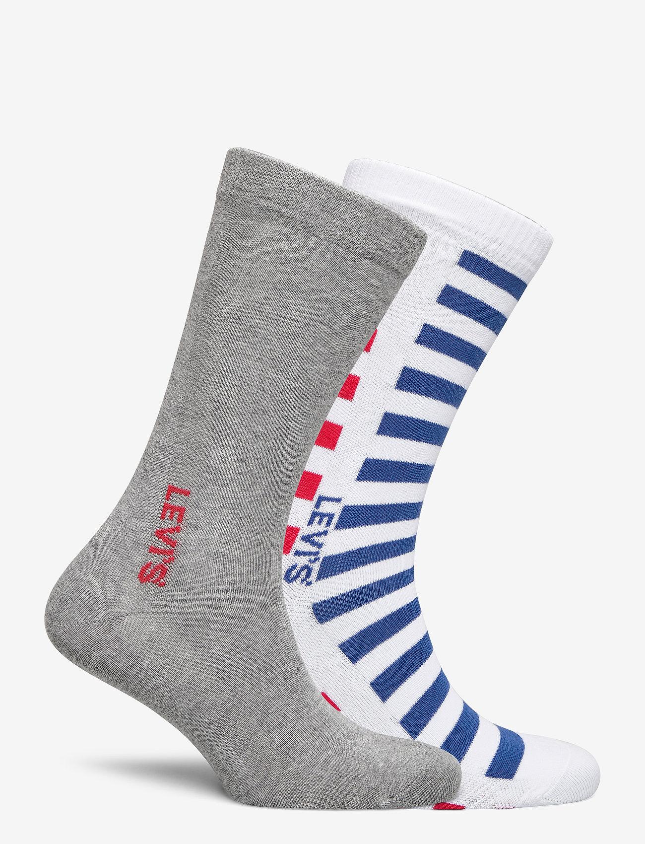 Levi´s LEVIS MEN REGULAR CUT SPLICED STRIP - Sokker WHITE / BLUE / RED - Menn Klær
