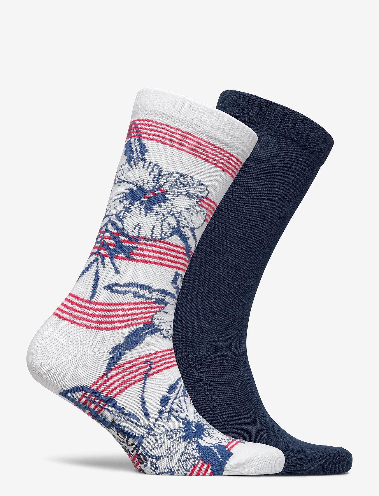 Levi´s LEVIS REGULAR CUT STRIPE HELLO HAWA - Sokker WHITE / BLUE / RED - Menn Klær