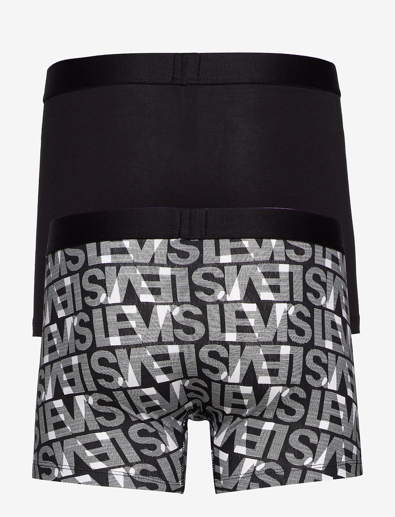 Levis Men Logo Aop Boxer Brief 2p (Black / White) - Levi´s MQtbAC