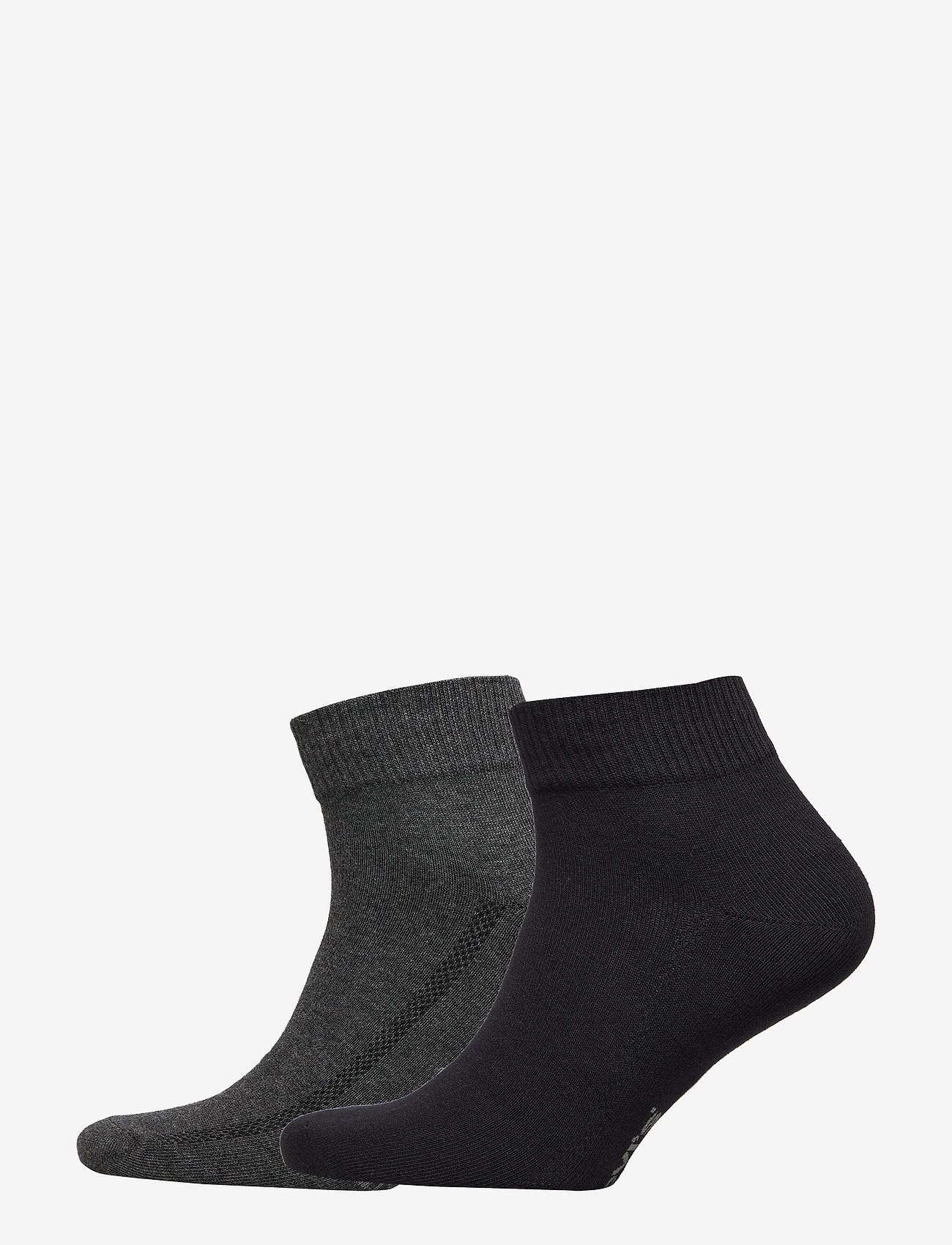 Levi´s - LEVIS 168SF MID CUT 2P - regular socks - anthracite melange / black - 0