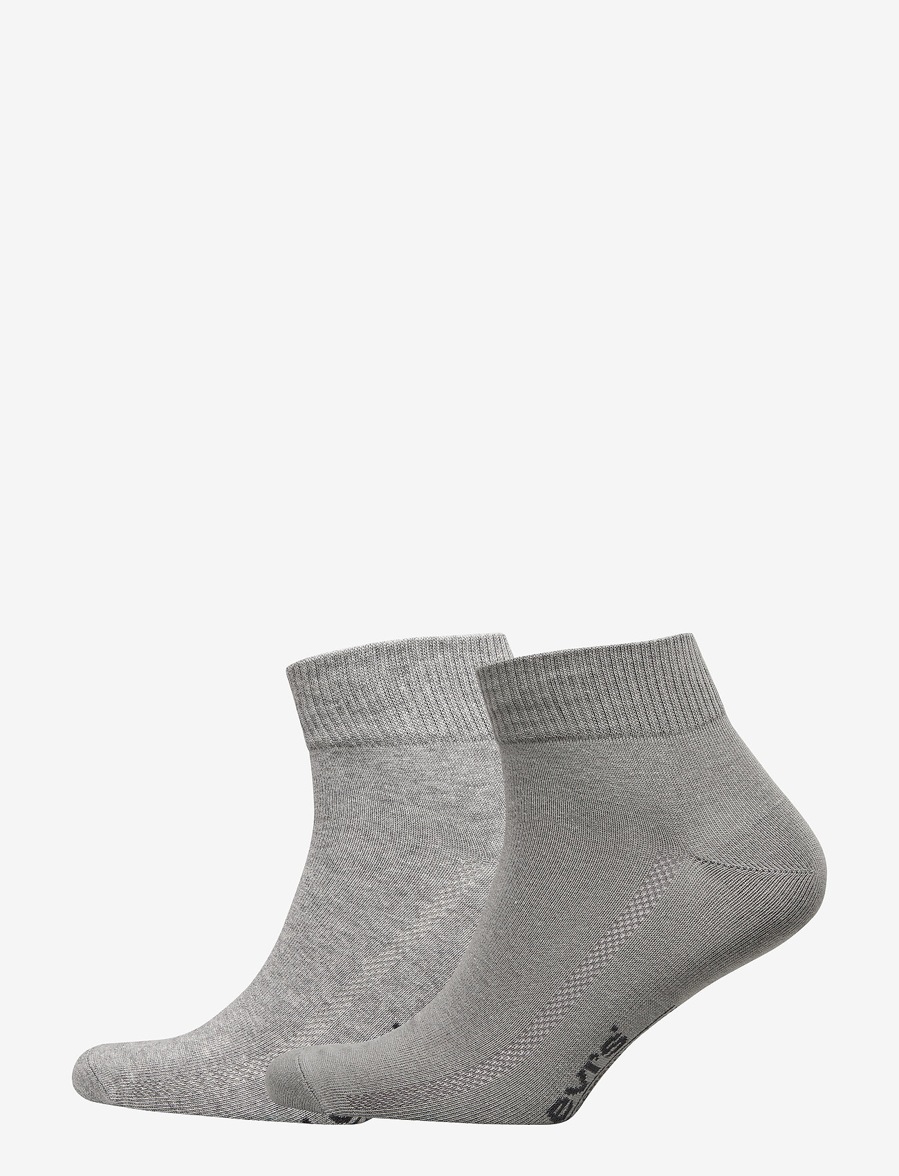 Levi´s - LEVIS 168SF MID CUT 2P - regular socks - middle grey melange - 0