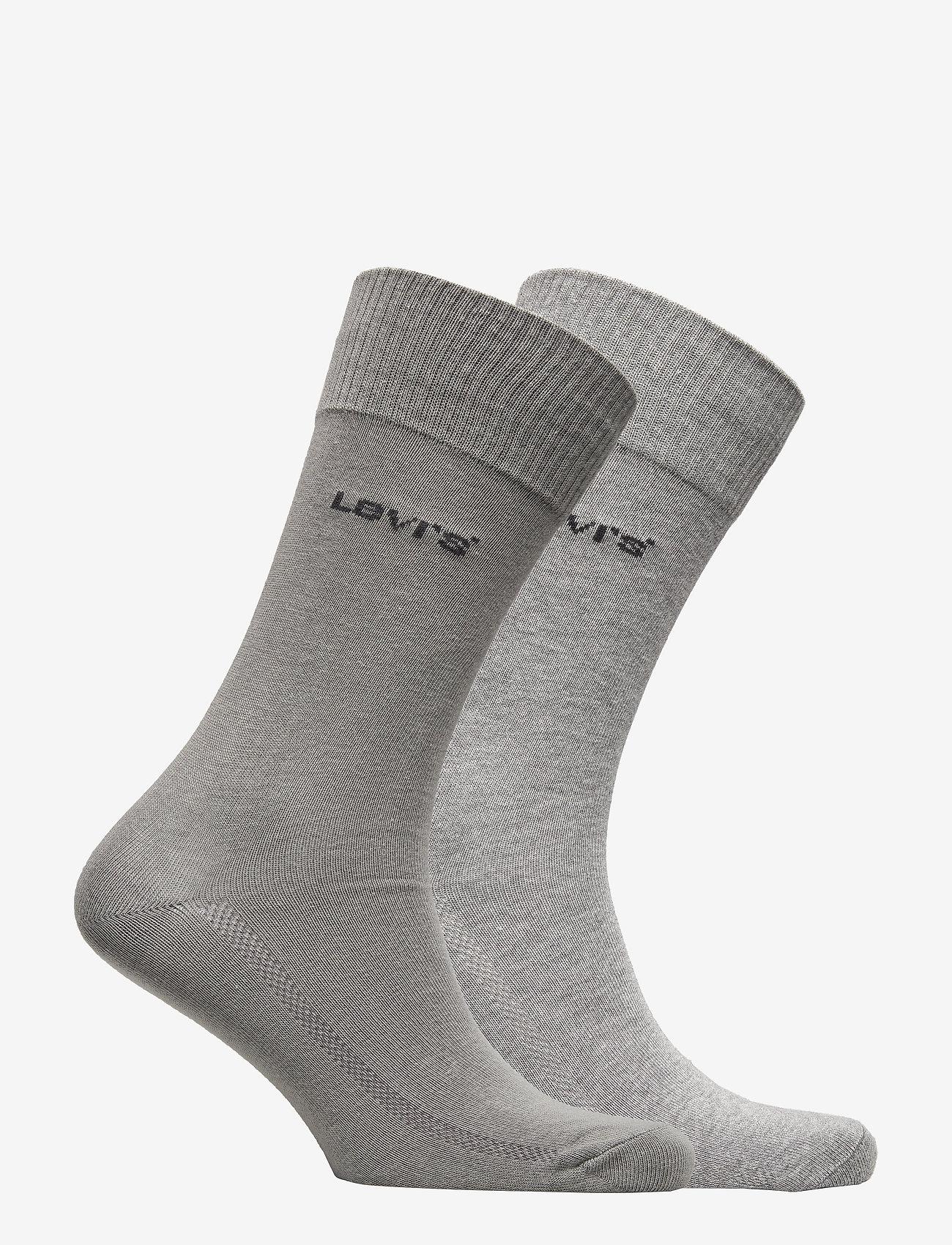 Levi´s - LEVIS 168SF REGULAR CUT 2P - regular socks - middle grey melange - 1