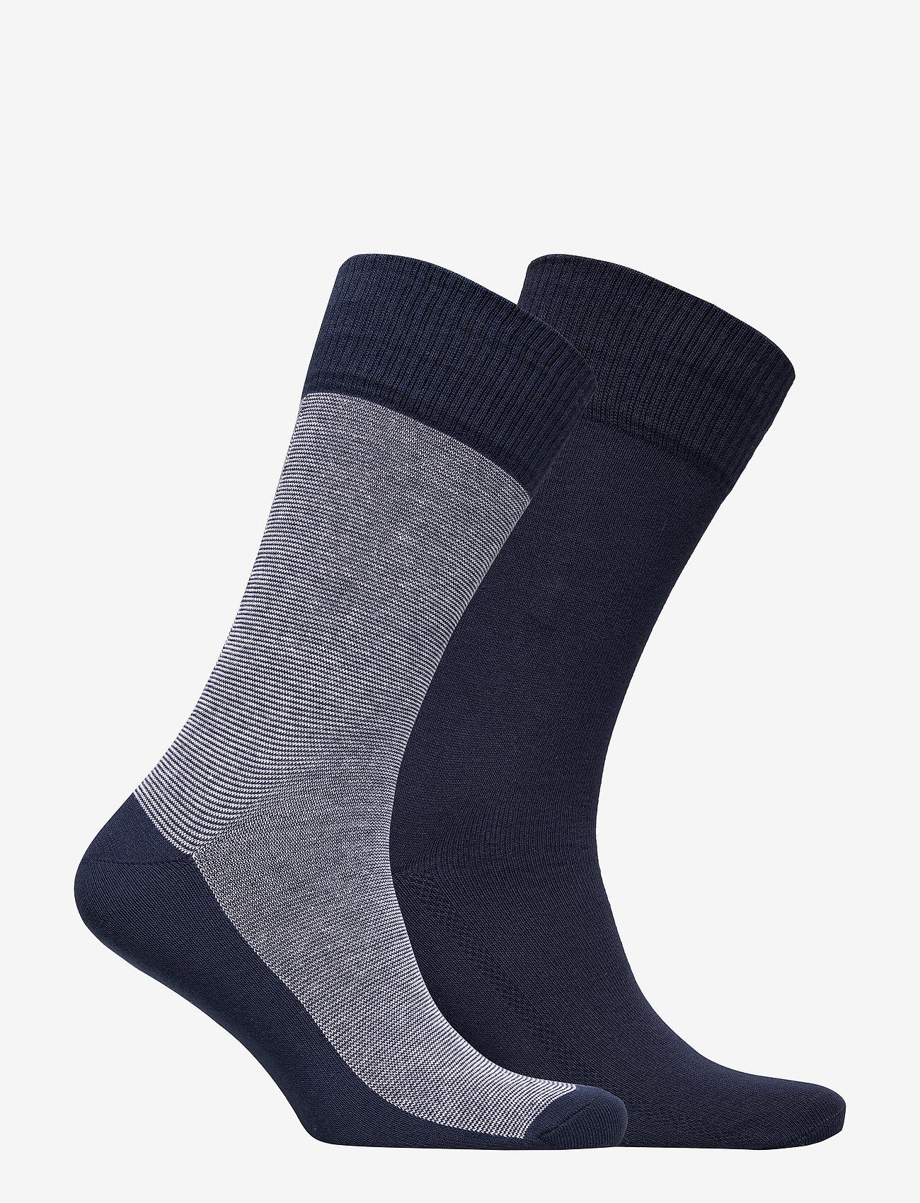 Levi´s - LEVIS 168SF REGULAR CUT MICRO STRIP - regular socks - mid denim - 1