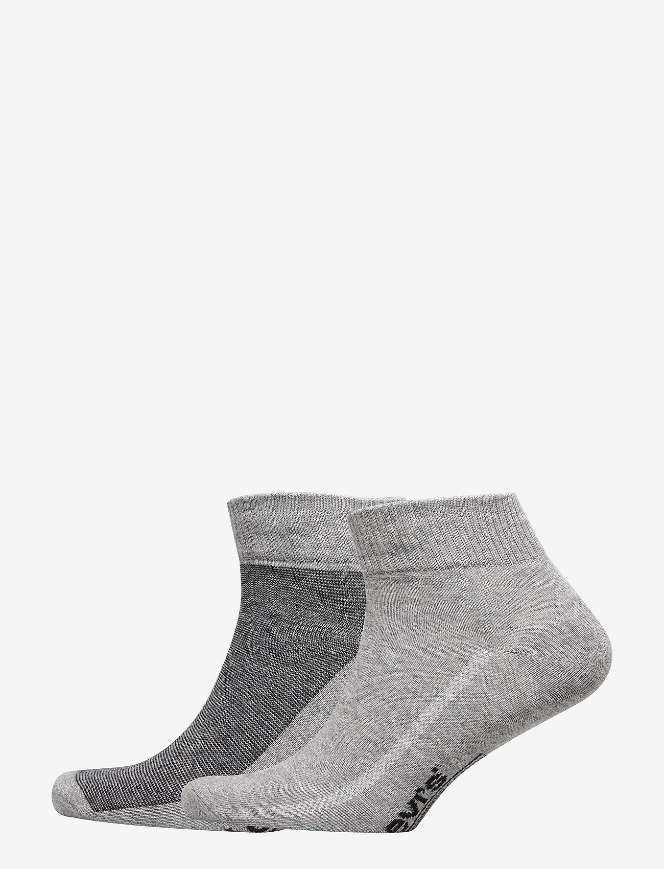 Levi´s - LEVIS 168SF MID CUT MICRO STRIPE 2P - regular socks - anthracite melange / black - 0