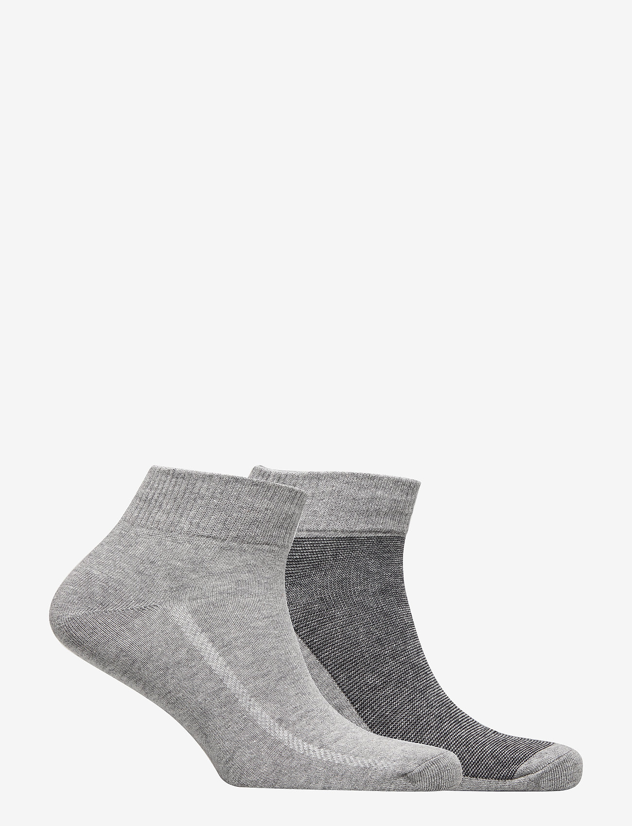 Levi´s - LEVIS 168SF MID CUT MICRO STRIPE 2P - regular socks - anthracite melange / black - 1