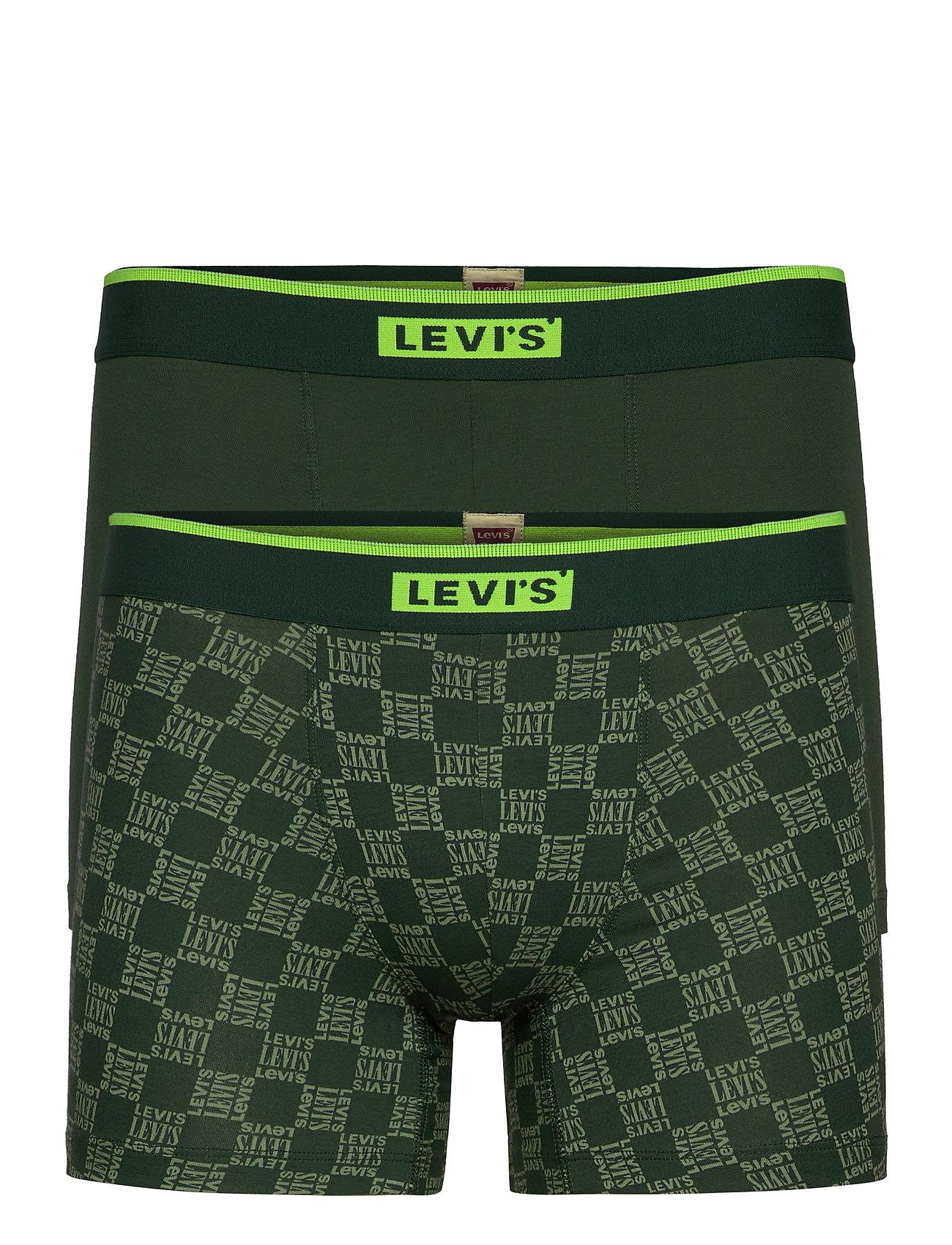 Image of Levis Men Triple Logo Aop Neon Boxe Boxershorts Grøn Levi´s (3453135777)