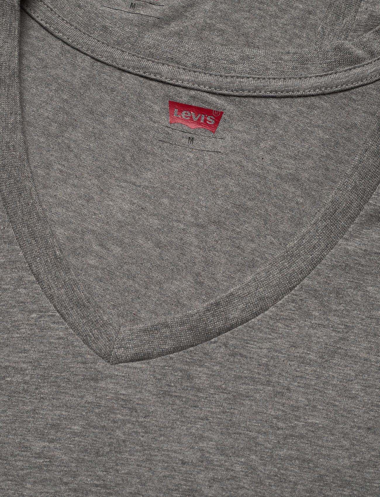Levi´s LEVIS MEN V-NECK 2P - T-skjorter MIDDLE GREY MELANGE - Menn Klær