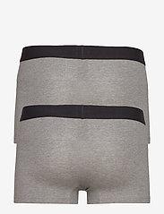 Levi´s - LEVIS MEN SOLID BASIC TRUNK 2P - boxers - middle grey melange - 1