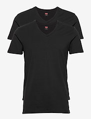 Levi´s - LEVIS MEN V-NECK 2P - multipack - jet black - 0