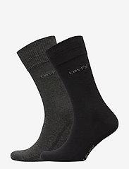Levi´s - LEVIS 168SF REGULAR CUT 2P - regular socks - anthracite melange / black - 0
