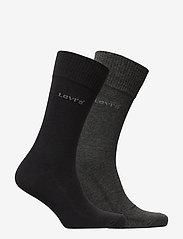 Levi´s - LEVIS 168SF REGULAR CUT 2P - regular socks - anthracite melange / black - 1
