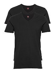 LEVIS MEN V-NECK 2P - JET BLACK