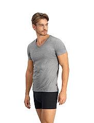 Levi´s - LEVIS MEN V-NECK 2P - t-shirts basiques - middle grey melange - 3