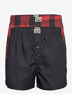 LEVIS MEN PREMIUM BUFFALO CHECK WOV - chinos shorts - red