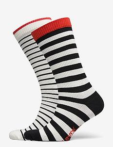 LEVIS UNISEX BRETON STRIPE REGULAR - regular socks - black / white
