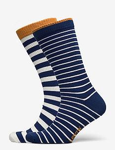 LEVIS UNISEX BRETON STRIPE REGULAR - regular socks - blue / white