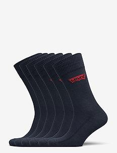 LEVIS REGULAR CUT BATWING LOGO 6P - chaussettes régulières - dark denim