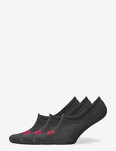 LEVIS FOOTIE HIGH RISE BATWING LOGO - gewone sokken - anthracite melange / black