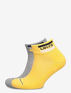 LEVIS 144NDL MID CUT SPRTWR LOGO 2P - ankle socks - yellow