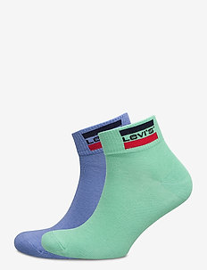 LEVIS 168NDL MID CUT SPRTWR LOGO 2P - ankle socks - riverside blue