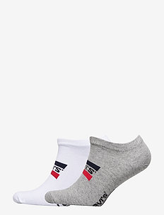 LEVIS 168NDL LOW CUT SPRTWR LOGO 2P - chaussette de cheville - white / grey